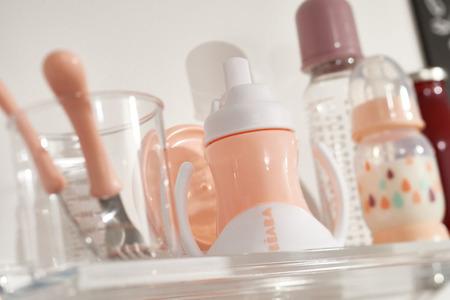 Butelka do mleka dla niemowląt antykolkowa 240 ml Rainbow nude, BEABA