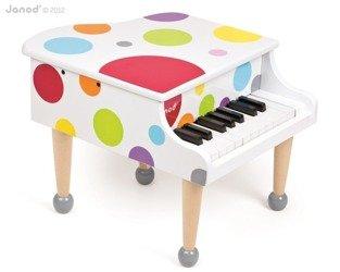 Drewniany fortepian Confetti - pianino dla dzieci, Janod