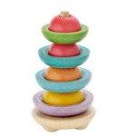 Drewniana wieża do sortowania - wieża na patyku, piramida Plan Toys PLTO-5615