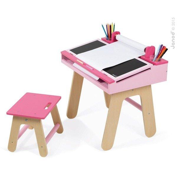 drewniany zestaw stolik plastyczny i krzese ko dla dziewczynki stolik kredowy organizery. Black Bedroom Furniture Sets. Home Design Ideas
