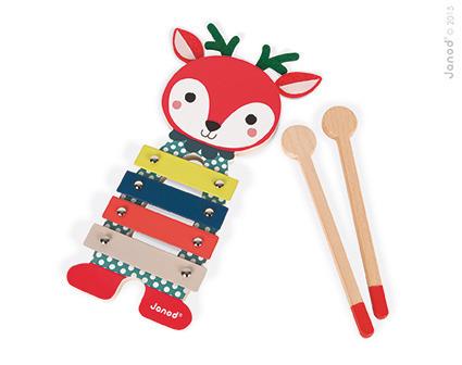 Cymbałki metalowe i drewniane Sarenka Baby Forest dla dzieci 12m+, Janod