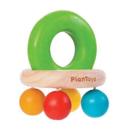 Drewniana grzechotka - gryzak z drewna ekologicznego, Plan Toys
