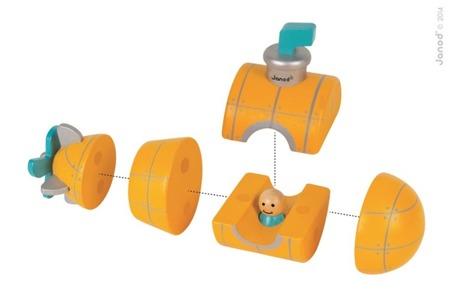 Drewniana łódź podwodna magnetyczna - składana łódź za pomocą magnesów, Janod