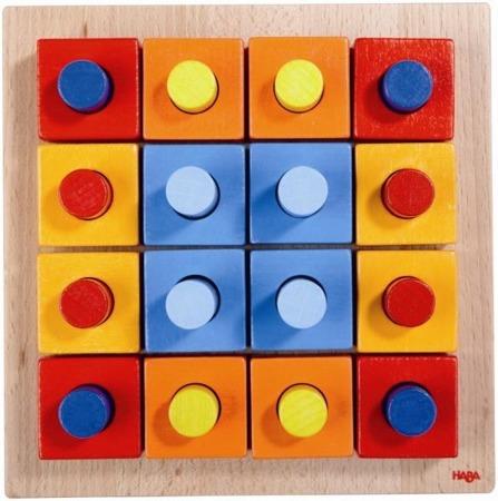 Drewniana nakładanka Kolory - nauka kolorów, sorter dla dzieci, 2 lata +, HABA