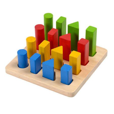 Drewniana plansza do układania figur, kształtów - sorter Plan Toys