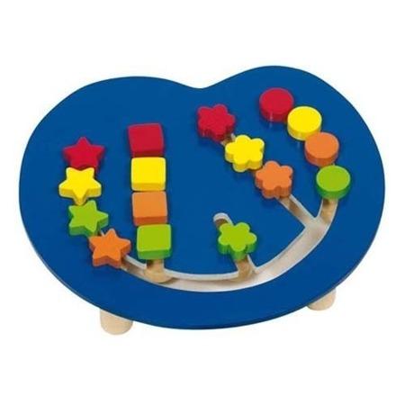 Drewniana układanka przesuwanka z figurami - gra logiczna dla dzieci, GOKI
