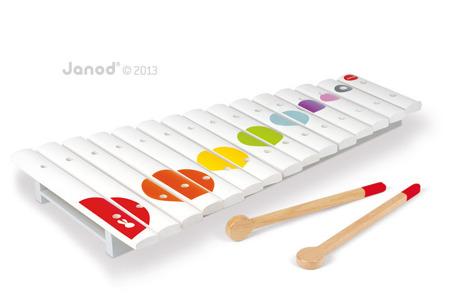 Drewniane cymbałki 15 tonów Confetti - duże cymbałki dla dzieci, JANOD