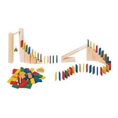 Drewniane domino, zestaw 250 części z dodatkami, Toys PureHS 440