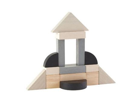 Drewniane klocki ekologiczne 15 el. dla dzieci 2 lata +  new design, Plan Toys