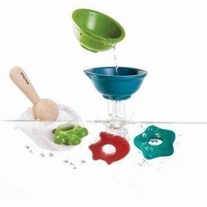 Drewniane zabawki do wody - zestaw zabawek do kąpieli, Plan Toys PLTO-5640