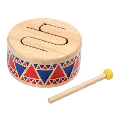 Drewniany bębenek dla dzieci - bębenek z drewna, ekologiczny, Plan Toys