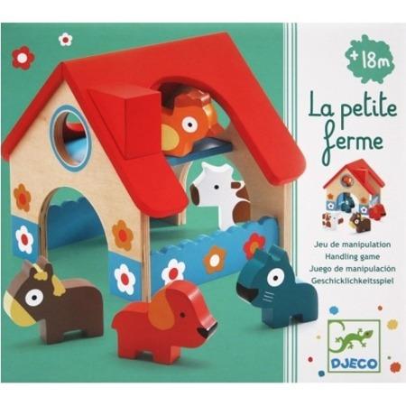 Drewniany domek ze zwierzątkami - zestaw zwierzątek, DJECO