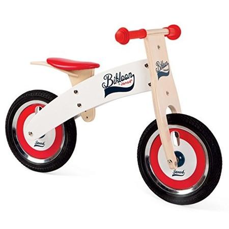 Drewniany rowerek biegowy - balansujący rowerek z drewna dla dzieci, Janod