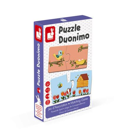 Dwuczęściowe puzzle Zwierzęta i ich domki 20 elementów, Janod
