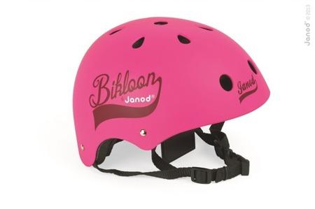Dziecięcy kask do rowerku biegowego różowy - kask z regulacją obwodu i cyrkulacją powietrza, Janod