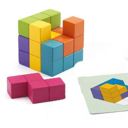 Gra logiczna dla dzieci - kostki do układania i odwzorowywania Cubissimo, DJECO DJ08477