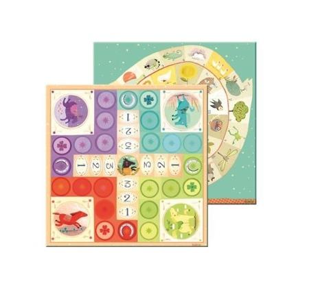 """Gra planszowa dla dzieci GĘSI - gra jak """"chińczyk"""", zestaw dwóch gier DJECO DJ05226"""