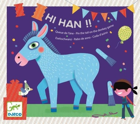 Graz, zabawa zręcznościowa - doczepianie ogonków, na przyjęcie urodzinowe Hi! Han!, DJ02091 N DJECO