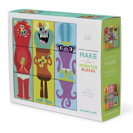 Klocki układanki, zbuduj potwora - puzzle dla dzieci 3D, 9 elementów, Crocodile Creek