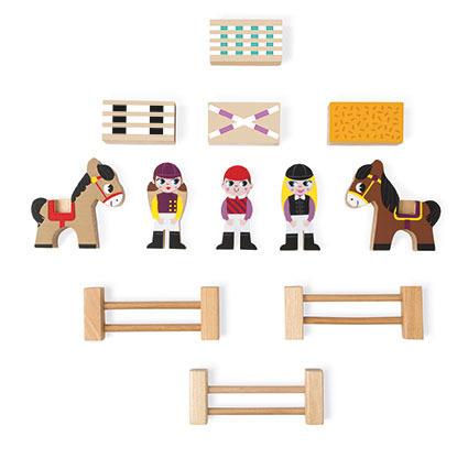 Koniki zestaw drewniany 12 elementów kolekcja Story, Janod