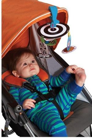 Kontrastowa karuzela czerwono czarno biała do wózka / łóżeczka - Wimmer Ferguson, Manhattan Toy