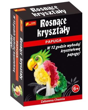 Kryształowa papuga w 12h - hodowla kryształów dla dzieci, 6 lat +, RANOK-CREATIVE