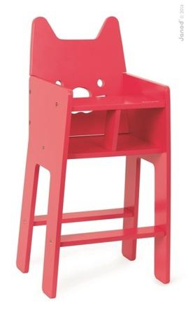 Krzesełko do karmienia dla lalek - drewniane krzesło Babycat, JANOD J05896