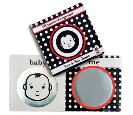 Książeczka kontrastowa Zobacz & powiedz - książka dla niemowląt 0m+, Wimmer Ferguson, Manhattan Toy