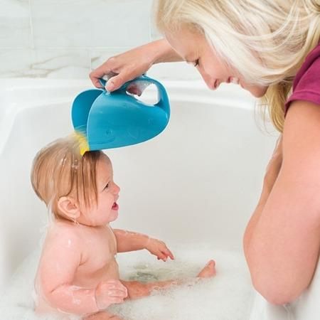 Kubek do płukania głowy dla dzieci i niemowląt - Wodospad Wieloryb MOBY, SKIP HOP