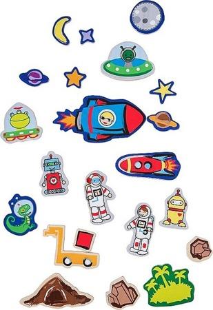 Magnetyczna układanka Kosmos - tablica magnetyczna z magnesami  w walizce Astronauta, Small Foot