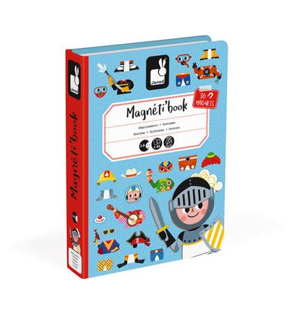 Magnetyczna układanka Kostiumy Chłopiec Magnetibook kolekcja 2018, Janod