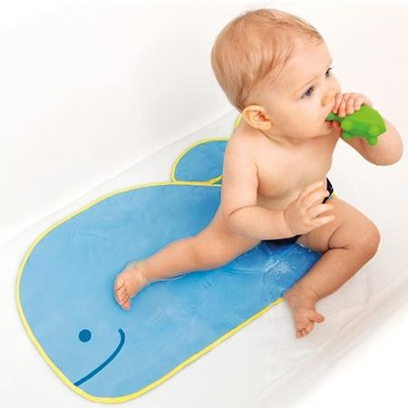 Mata antypoślizgowa do wanny i pod prysznic  - miękka mata dla dzieci Wieloryb MOBY, SKIP HOP