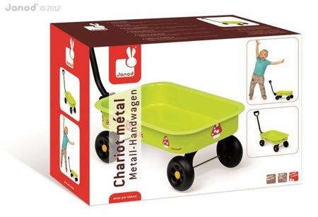 Metalowy wózek ogrodowy do ciągnięcia dla dzieci - wózek taczka dziecięca, Janod