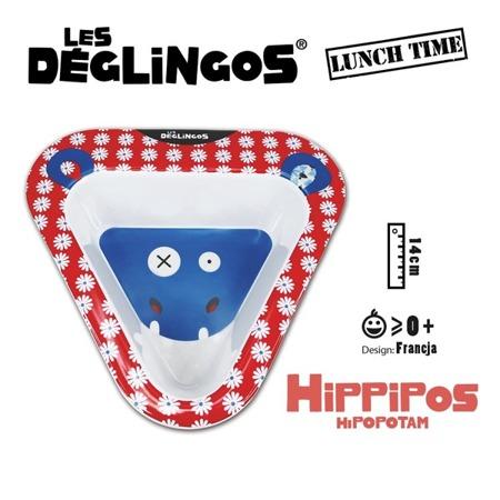 Miseczka do jedzenia dla dzieci z melaminy Hipopotam Hippipios, Les Deglingos