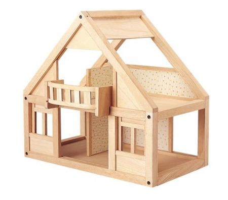 Mój pierwszy domek dla lalek, Plan Toys - naturalny, duży domek dla lalek dla dzieci 3 lata+