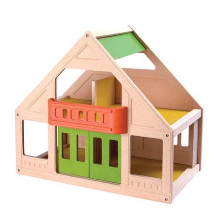 Mój pierwszy domek dla lalek, Plan Toys - naturalny, duży, kolorowy domek dla lalek dla dzieci 3 lata+