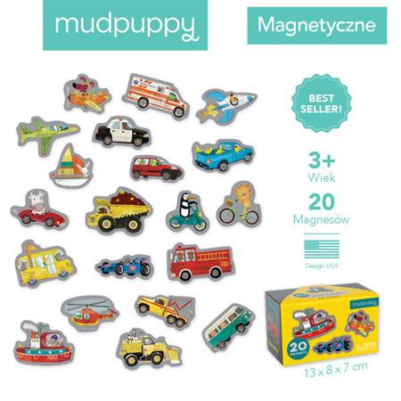 Mudpuppy Zestaw magnesów Środki transportu 20 elementów