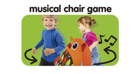 """""""Muzyczna sowa"""" poducha do siedzenia w kształcie sowy - poducha do zabawy w gorące """"krzesło"""", K's Kids"""