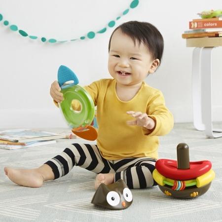 Nakładanka, układanka dla niemowlaków, kiwaczek SOWA - piramida, SKIP HOP 303104
