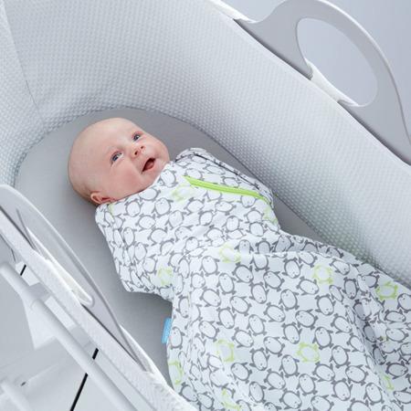 Otulacz - śpiworek dla niemowląt, kokon jak w brzuchu matki Penguin Pop Charcoal, Gro Company