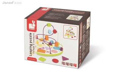 Pętla edukacyjna i sorter figur (puzzle) - kolorowy labirynt dla dzieci, JANOD