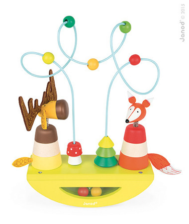 Platforma edukacyjna Łoś i lisek Baby Forest - przeplatanka zręcznościowa labirynt, JANOD J08197