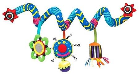 Pluszowa spirala edukacyjna na łóżeczko do wózka dla niemowląt 0m+, Whoozit Manhattan Toy