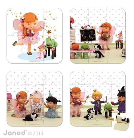 Puzzle 4w1 Kamila bawi się we wróżkę, Janod