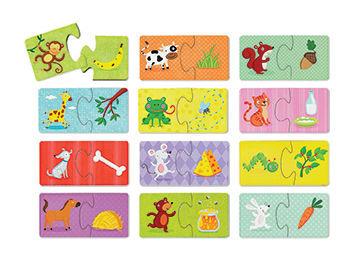 """Puzzle """"Co jedzą zwierzątka?"""" - puzzle ze zwierzątkami 24 el., 2 lata +, Crocodile Creek"""
