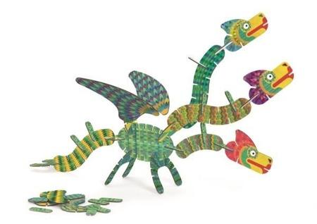 Puzzle Volubo 3D SMOK, logiczna układanka dla dzieci, 40 el. DJECO DJ05632 N