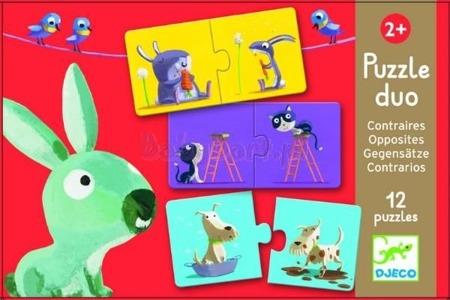 Puzzle edukacyjne DUO - puzzle przeciwieństwa dla dzieci, DJECO