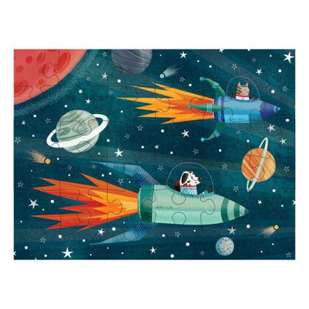 Puzzle podróżne w woreczku Kosmos 36 elementów 3+, Mudpuppy