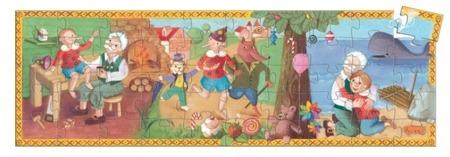 Puzzle tekturowe PINOKIO 50 el., 5 lat +, DJECO DJ07251