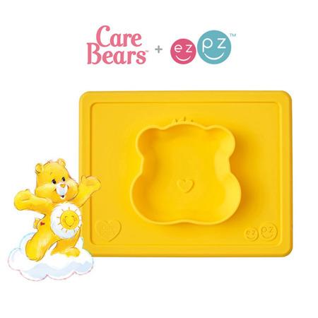 Silikonowa miseczka z podkładką 2w1 Care Bears™ Bowl Misia Słoneczne Serce Funshine Bear żółta, EZPZ